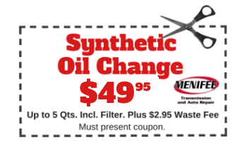 Menifee Transmission 2018 Coupon Synthetic Oil Change