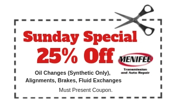 Menifee Transmission Dec 2018 Coupon Sun Special 25p